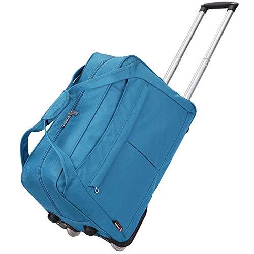 Borsa da viaggio pieghevole borsa da viaggio leggera da viaggio softshell impermeabile borsa da viaggio da viaggio con 2 ruote girevole per uomo e donna,blue