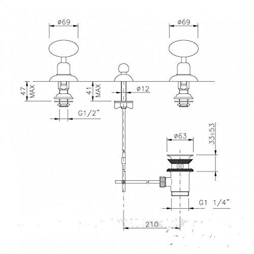 Nicolazzi Cristallo Di Rocca Mixers bidet mixer 2110_CR_09C