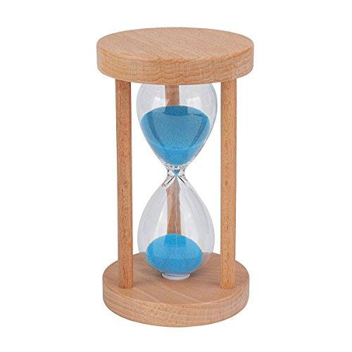 Multicolor Sablier minuteur - Wood minuterie de sable pour les enfants à la maison et à l'école, horloge de sable Sablier minuteur - Couleur aléatoire Livraison 15.5x8cm 5min
