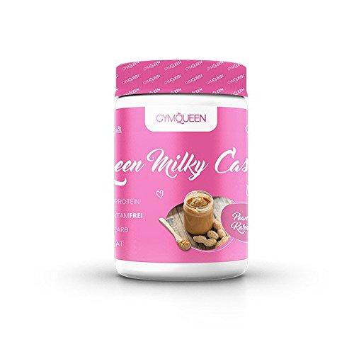 Premium Casein Protein, Eiweiß Shake speziell für Frauen | Leckerer Kasein Shake zum Abnehmen & Muskelaufbau | Diät, Aspartamfrei | Gym Queen Casein Pulver – Erdnuss-Karamell (500g)