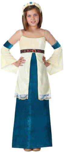 Atosa-15875 Disfraz Dama Medieval, color azul, 10 A 12 Años (15875)