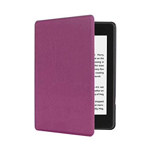Kanggest.Funda Estuche para Kindle Paperwhite 4ªgeneración/2018 E-Reader Cubierta Protectora de Cuero Diseño de Libro magico automática Wake/Sleep Smart Apto para 6 Pulgadas Kindle(Morado)
