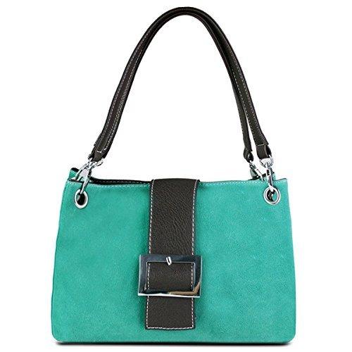 Miss Lulu - Borsa a mano donna borsa a Pelle sintetica con tracolla borsa hobo Verde