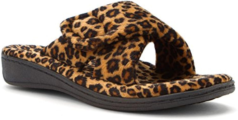 ORTHAHEEL Women's Relax Slipper (Tan Leopard 7.0 M)