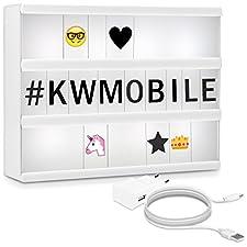 kwmobile - Made for Smart ElectronicsKlein aber oho: Die kwmobile Lichtbox A4 lässt Texterherzen höher schlagenHINWEISDie Plättchen werden mit einer dünnen, transparenten Schutzfolie ausgeliefert, die vor der Verwendung vorsichtig entfernt werden mus...