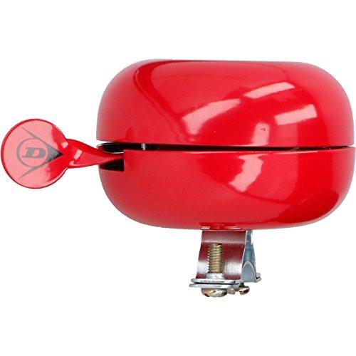Dunlop XXL Fahrradklingel Fahrradglocke Klingel Glocke Ding Dong 80 mm farbig bunt (Farbe Rot)