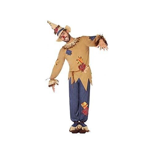 Atosa-54493 Atosa-54493-Costume-Déguisement Épouvantail M-L-Adulte, Homme, 54493, Marron, M-L
