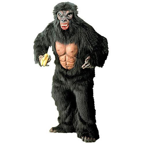 Widmann 4519K - Erwachsenenkostüm Gorilla, Kostüm mit Brustblatt, Hände, Füße und Maske (Paar-halloween-kostüme Für Spaß-ideen)