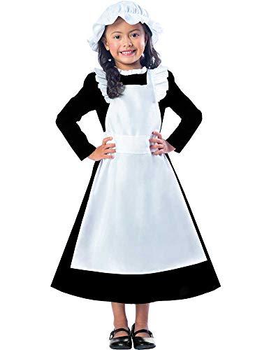 Clarendon Costumes By Amscan Viktorianisches Mädchen-Kostüm für Arme Maid Book Day Week, Kinderkostüm