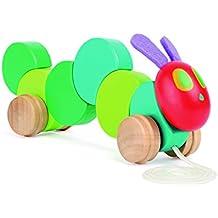 Raupe Nimmersatt Nachzieh-Raupe Holz Ziehspielzeug Kleinkindspielzeug