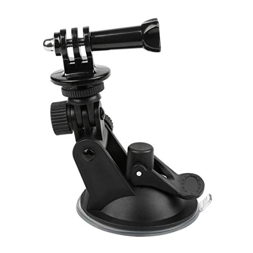 Features:Made of premium plastic, it is UV resistant and durable to use. Long screw connections ensure your action camera is held securely in place.Strong suction pad is easy to mount firmly on dashboard or windshield.Strong enough to pull dents ...