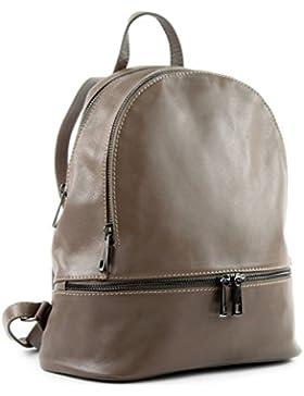 modamoda de - ital. Lederrucksack Damentasche Rucksack Citytasche Freizeit Nappaleder T137