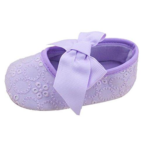 Da Sapatos Amarelo Roxo Prewalker De Fita Criança Menina Inferior Bowknot Wocachi Rastejando 12 Suave Flor Algodão Da q7Ra0nt