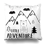 quanzhouxuhuixiefu Decorativepillows Case Throw Pillows Covers for Couch/Bed 18 x 18 inch,Cute Little Adventure Sweet Bear Baby Home Sofa Cushion Cover Pillowcase Gift Bed Car Living Home
