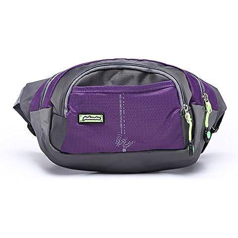 OpetHome correa viajes deporte running cintura bolsa con bolsillo de malla de almacenamiento para senderismo Camping, mujer niña Niños Unisex hombre,