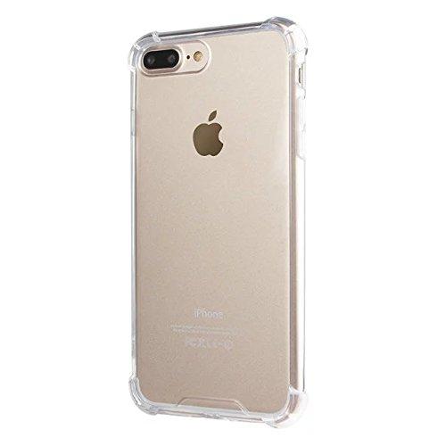 iPhone 8 Plus / 7 Plus Hülle Handyhülle von NICA, Durchsichtiges Slim Silikon Case Transparente Rückseite & Bumper, Crystal Schutz Dünn, Handy-Tasche Back-Cover für Apple iPhone-7+ / 8+ - Transparent Transparent