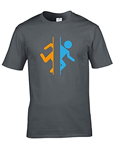 Portal Valve Video Gaming Adults premium cotton short sleeve T-shirts available in multiple colours and sizes. FREE DELIVERY