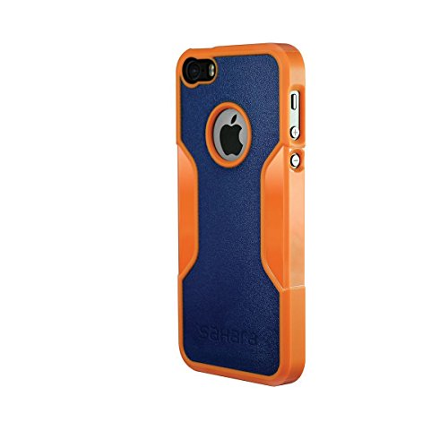 Coque iPhone 5 SE 5s, (Rose Gold Clair) SaharaCase® + [film protecteur ZeroDamage en verre trempé] kit de protection accompagné d'un et d'une protection de saisie antidérapante [antichocs] avec une co Orange, Bleu