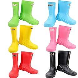 leopard boys girls kids wellies wellington motorbike boots waterproof unisex children rain shoes - 41oDZZ4bi4L - Leopard Boys Girls Non-Slip Waterproof Kids Wellies Wellington Boots Unisex Children Motorbike Rain Boots Shoes