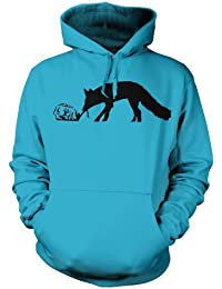 "Kentucky Fox Banksy Hoodie - Hawaiian Blue XX Large (52"" Chest)"