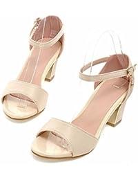 Zapatos de mujer de verano, una cifra normal, sandalias, los grandes astilleros, la mujer Tacones altos,Beige,42