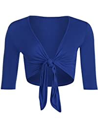 WearAll - Damen Binden Jäckchen Cardigan Top Übergröße - 4 Farben - Größe 40-54