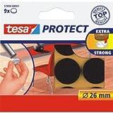 tesa 20 x Filzgleiter Protect Durchmesser 26mm rund braun