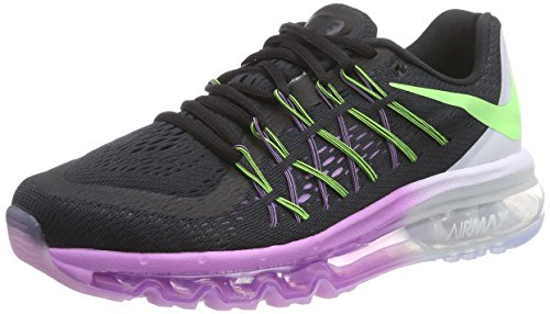Nike Air Max 2015 Damen Laufschuhe Schwarz (Black/Flash Lime-White-Fuchsia Glow)
