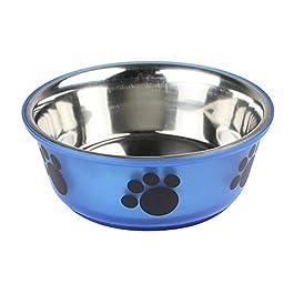 Ebuygb antiscivolo in acciaio INOX Pet Dog/CAT food acqua ciotola