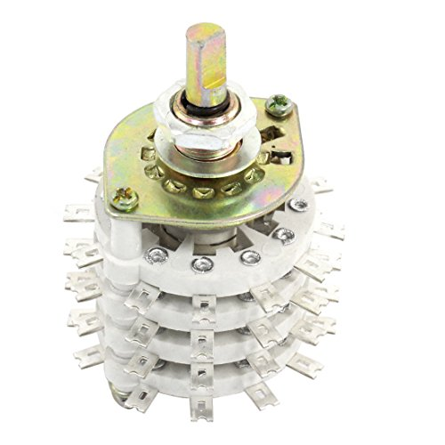 4p11t 4Pole 11Überwurf Keramik Band Kanal Rotary Switch Selector -