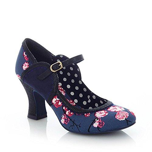 ae2d446a616515 Ruby Shoo Damen Pumps Rosalind Kirschblüten Riemchen Schuhe Blau  Geschlossen 39