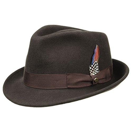 elkader-cappello-trilby-stetson-fedora-cappello-da-uomo-l-58-59-marrone