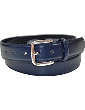OSSI® - Cinturón de piel clásico para niños de 30 mm de grosor, doble fontura y tamaño de 50-100 cm de cintura...
