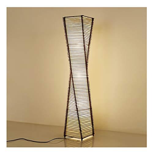 CRR ,Stehleuchte Wohnzimmerstudienschlafzimmerhotel der vertikalen Nachttischlampe des einfachen modernen Rattan der Stehlampe kreative,Leselampe - Bernstein Metall-stehlampe