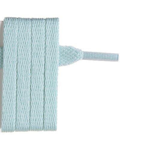 France-Lacets Lacets de chaussure plat vert d'eau 120 cm