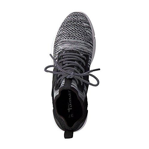 Tamaris Damen Sneaker Grau/Schwarz Grau (Grey Comb 221)