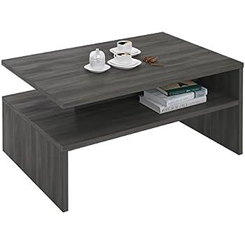 CARO Möbel Couchtisch PAULINA Beistelltisch Wohnzimmer Mit Ablagefach In  Esche Grau