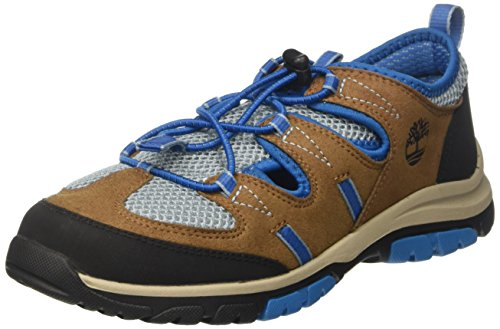 Timberland Unisex-Kinder Zip Trail Fishermanbrown Sandalen, Braun (Brown/Blue), 39 EU