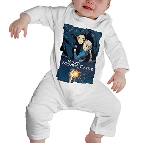 Howl's Castle Moving Kostüm - Bodys für Baby Lange Ärmel Baby Cotton Romper Jumpsuits Long Sleeve Howl's Moving Castle Unique Design Newborn Sleepsuit Gift