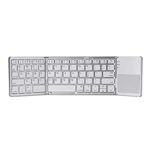 perlo33ER Drahtlose Touchpad Folding Bluetooth Tastatur für Android iOS Windows - Weiß -