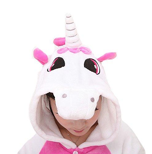 Pyjama Licorne Adulte Unisexe Kigurumi Licorne Combinaison Animaux Unicorn Rose