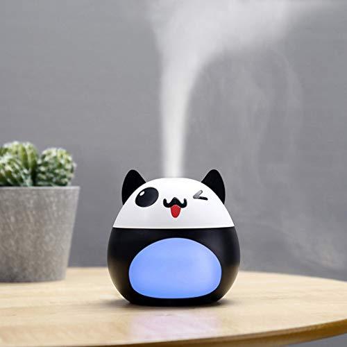 funnydayrine muebles Humidificador de Aire por USB Humidificador para Mascotas Difusor Ultrasónico silencioso Que Cambia la luz Linda de la Noche del LED (Negro)