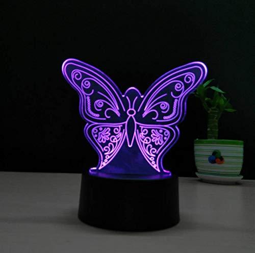 Schöne Schmetterling 3D Lampe Usb Touch Switch Tier Led Nachtlicht Kinder Schlafzimmer Atmosphäre Lampe Kreative Kunst Und Handwerk Geschenk
