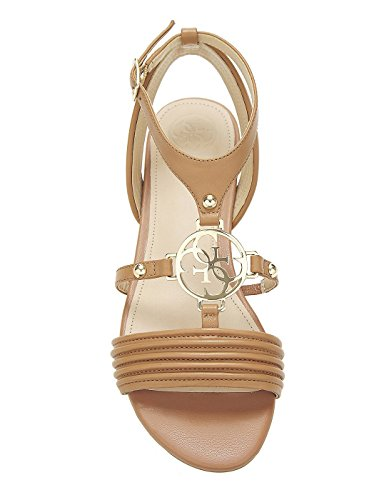 Guess Brown Leather Sandals Brown