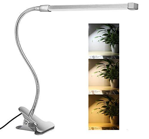 Svance USB Lampe à Pince LED avec 3 Modes (Apprentissage / Lecture / Détente), dimmable LED Lampe de Bureau (10 Niveaux de Luminosité) / (Argent)