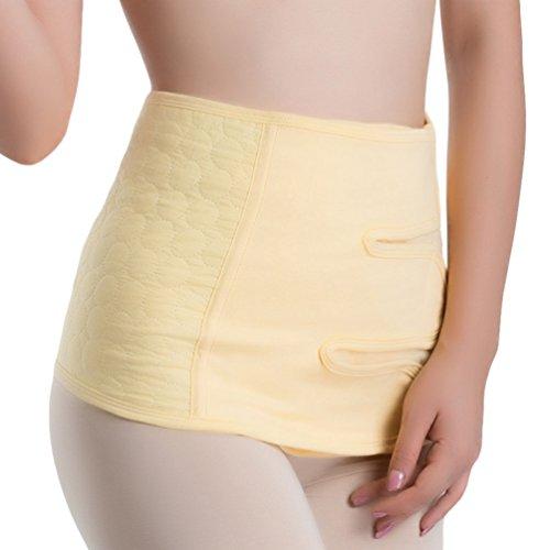Dexinx Postpartum Bauch Wrap Gürtel Schwangerschaft Erholung Gürtel Korsett Taille Trainer Band Komfortable Atmungsaktive Body Shaper Gelb 2XL (Elastische Wrap Taille)