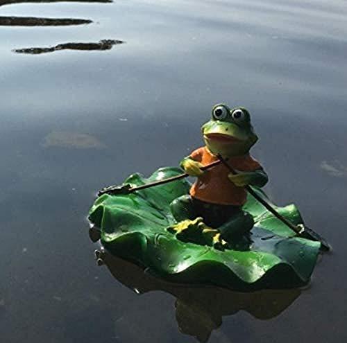LOOKUR Schwimmende Frosch Produkte Garten Im Freien Kreative Garten Garten Steingarten Aquarium Brunnen Teich Fisch Landschaftsbau Dekorative Vase Einfach (3-tier-garten-brunnen)