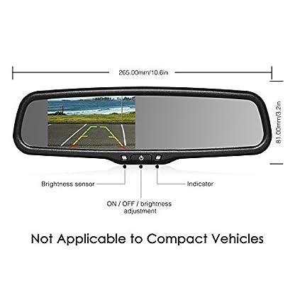 Auto-vox-T2-Backup-Kamera-Kit-109-cm-LCD-OEM-Auto-Rckspiegel-Monitor-und-Reverse-Assist-mit-IP-68-Wasserdicht-LED-Nachtsicht-Nummernschild-Back-up-Kamera-fr-Autos-Trucks-RVS