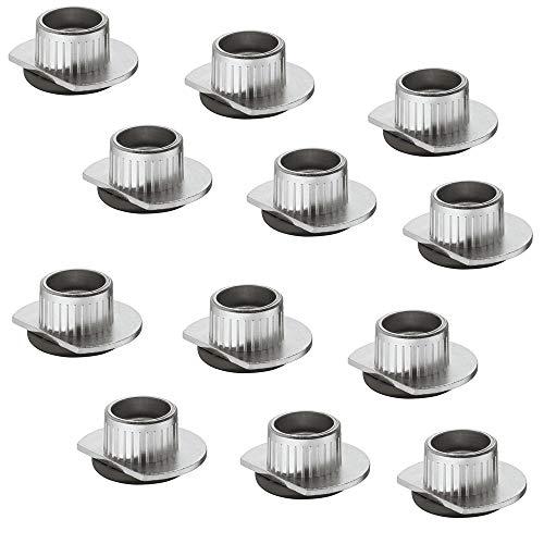 Gedotec Sockelfuß Unter-Schrank Möbelfüße verstellbar zum Einbohren & Schrauben   Tragkraft 400 kg   Sockelverstellfuß Stahl massiv   +10 mm höhenverstellbar   20 Stück - Verstellfuß für Möbel-Schrank