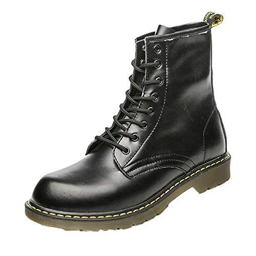 Combat Boots Kostüm - EU39-EU46 ODRD Schuhe Mode Herren England Vintage Boots Motorrad Stiefel Stiefeletten Wanderstiefel Combat Hallenschuhe Worker Boots Laufschuhe Sports
